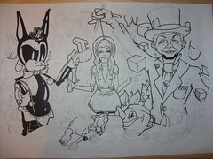 ALICE IN FUCKED UP LAND(draft penxpencil) (Welcome to LIMBO) Tags: limbo aliceinwonderland alfredeneuman snub pleaseflush snub23 funkyreddog welcometolimbo cootchiecootiealice