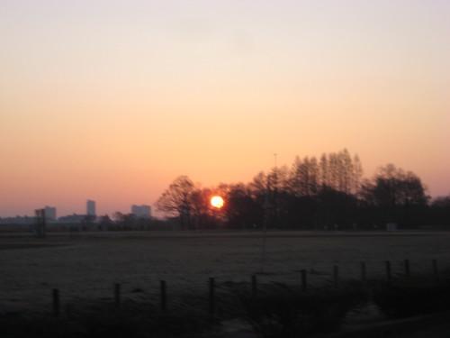 秋ヶ瀬公園で夜明け