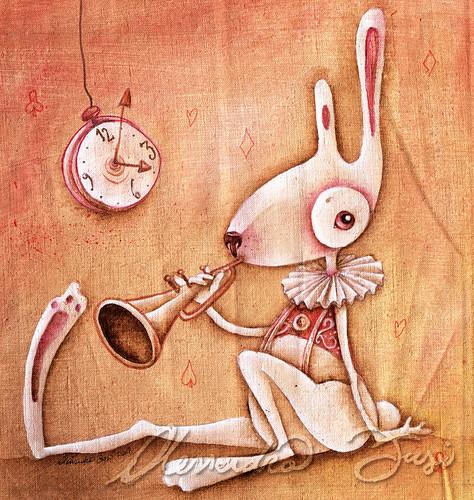 Bag artwork - The White Rabbit