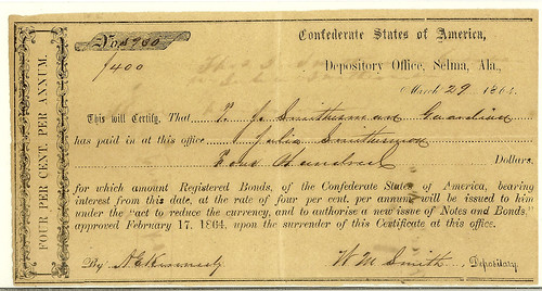 Confederate Interim depository receipt (IDR)