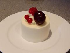 White chocolate cheesecake at La Cerise, Leith, Edinburgh