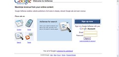 New AdSense Homepage