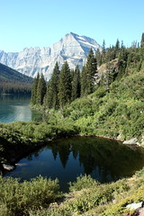 Grinnell Glacier trail (Walks Across) Tags: mountains nature water reflections scenery lakes glaciernationalpark