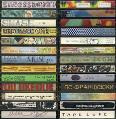 Cassette Tapes 1 (sarcoptiform) Tags: music art home tom radio out private underground design hand artistic dr fabio collection made tape doodle use there drawn trippy cassette juvenile cassettes alternative magnetic kaz recordings wfmu berger wiliam