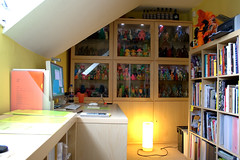 home office / 'work' / toy room! (fun9us) Tags: door slash light cinema ikea home apple glass monster work computer giant studio jack toy mouse toys design smog office webcam mac graphic display cabinet desk m1 large monitor full godzilla collection g5 glowinthedark final muji workspace daniels eaton isight bookcase habitat stationery jackdaniels filing premium mecha aluminium bandai gargamel gid marmit aftershock hedorah mechagodzilla davidlanham dlanham bearmodel hedoran matango hedolan