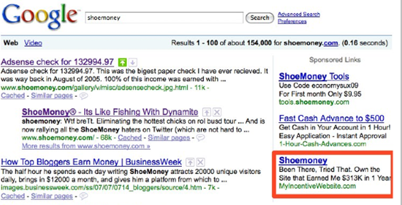 Shoemoney Google Search