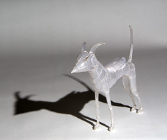 Paper and Silver Wire Sculpture: Beetle-winged Moondog