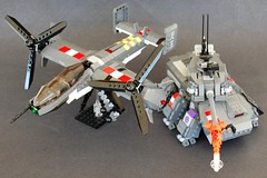 Eisendmon (unhh) Tags: lego space military scifi airforce mecha tiltrotor ramm raacf