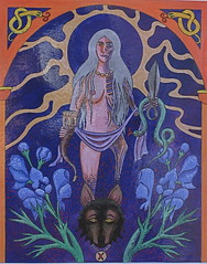 Hel, Goddess of the Underworld (Thorskegga) Tags: england art death artwork hand painted goddess ancestor gods underworld ancestors thorn viking mythology hel pagan norse heathen hela asatru heathenry thorskegga