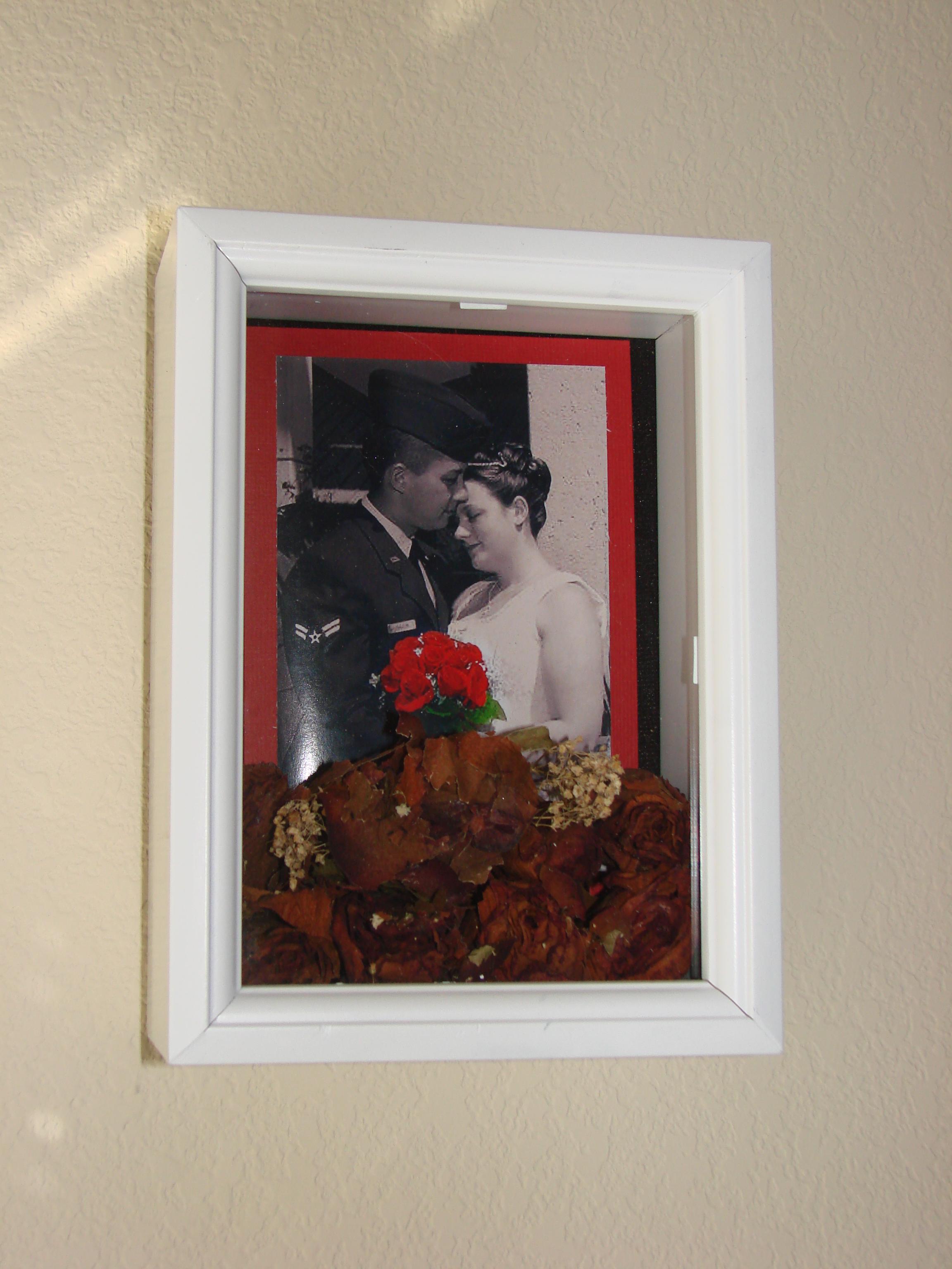 Wedding Bouquet Shadow Box Display - HOME SWEET HOME