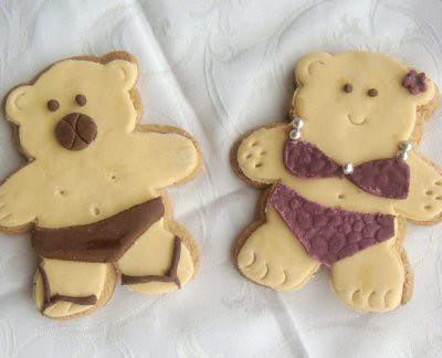 swim bear cookies