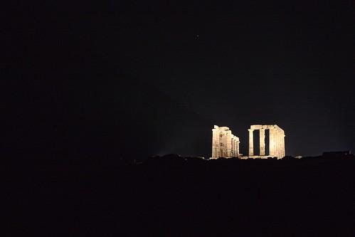 nightfall at sounion