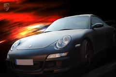Black Devil (_David_Meister_) Tags: auto motion black car photoshop matt movement fast porsche bewegung schwarz sportscar schnell automobil sportwagen davidmeister