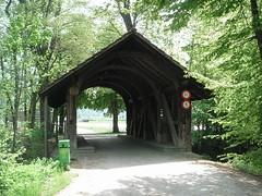 Holzbrücke bei Suhr
