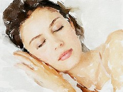 Sleeping woman (piker77) Tags: portrait woman painterly art beauty face digital photoshop watercolor painting nice interesting media pretty natural sleep retrato aquarelle digitale manipulation simulation peinture illusion virtual watercolour transparent acuarela tablet technique wacom ritratto stylized pintura portre  imitation  aquarela aquarell emulation malerei pittura virtuale virtuel naturalmedia    piker77wc arthystorybrush