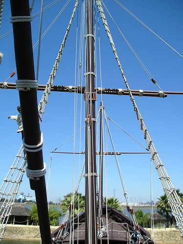 spain christophercolumbus pinta larabida may172007 woodensailingship