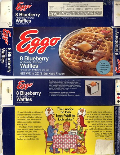 Eggo Blueberry Waffles - 1979