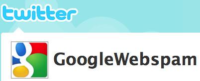 Google Web Spam on Twitter