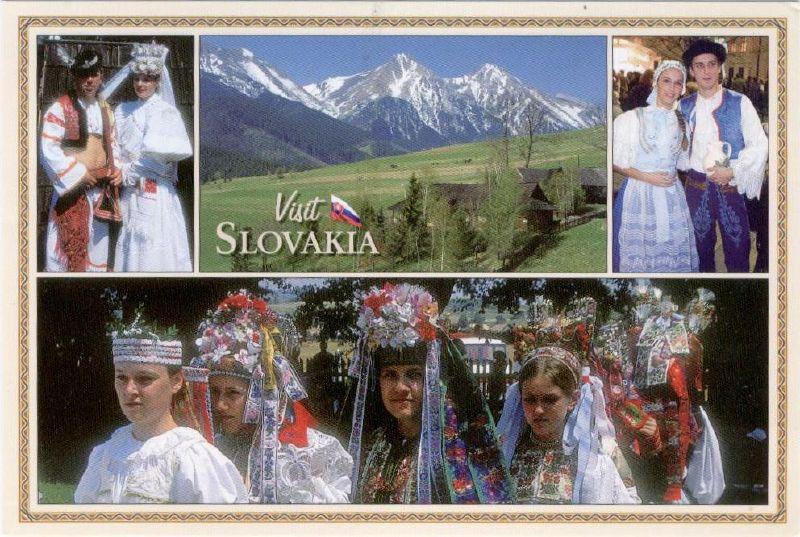Postcard Friendship Friday 011_Slovakian costumes