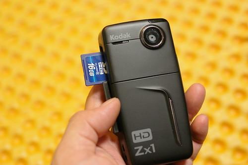 Kodak Zx1 SDHC slot