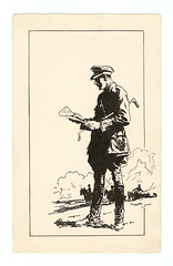 British Officer Drawing by W. Langmuir. And a Poem by Wilfrid Gibson. (pepandtim) Tags: reading ww1 wristwatch greatwar firstworldwar 1962 penandink 1878 ridingboots langmuir lagrandeguerre britishofficer wilfredgibson 54bd33
