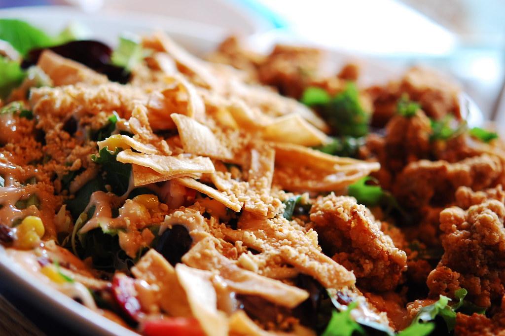 Guppy House: Popcorn chicken salad