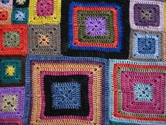 Babette Blanket, closeup 1 (GFTC) Tags: crochet koigu merino modular multicolor grannysquares interweavecrochet babetteblanket