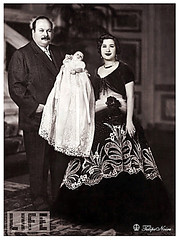 king Farouk I of Egypt With His Second Wife, Queen Nariman & Their Baby - March 1952 (Tulipe Noire) Tags: africa baby king egypt middleeast royal farouk queen cairo 1950s egyptian 1952 nariman