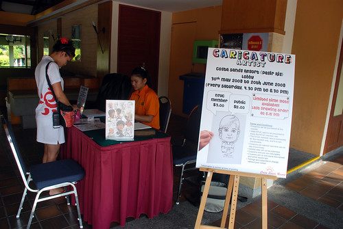 Caricature live sketching for Costa Sands Resort Pasir Ris Day 1 - a