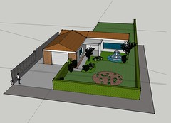 sketchup of the yard