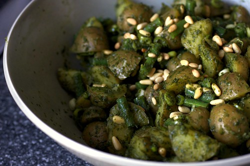 Pesto Potato Salad with Green Beans: