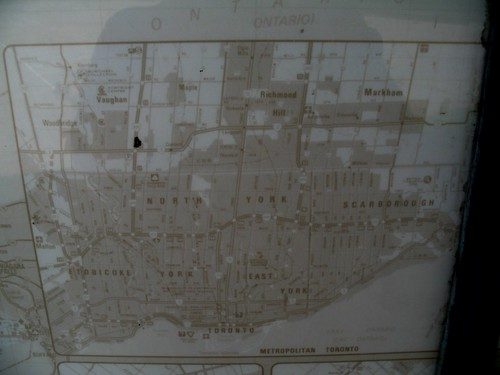 Dutton Service Centre - Faded Metro Toronto Map
