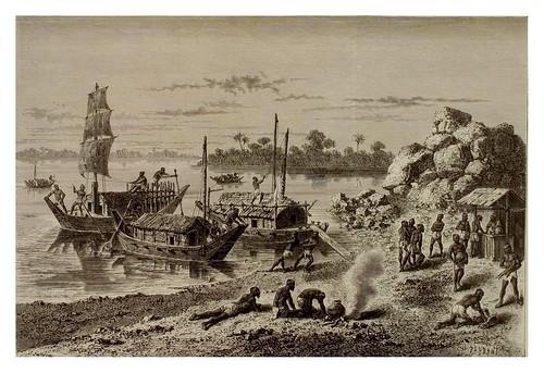 022- Barcas y pateras en el Ganges-La India en palabras e imágenes 1880-1881- © Universitätsbibliothek Heidelberg