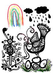 the lovers the dreamers and me (* Little Circus Design *) Tags: tattoo illustration skulls skeleton pattern decorative australiana floralpattern brushandink thedayofthedead birdimages brushink melbourneart australianart contemporaryillustration blackandwhiteimages thejackywintergroup monochromaticcolour littlecircusdesign madeleinestamer littlebirdsville limitededitiongicleeprints australianillustration contemporaryfolkstyle