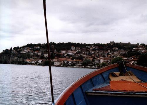 O lago de Ohrid Macedónia