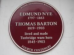 Photo of Edmund Nye and Thomas Barton claret plaque