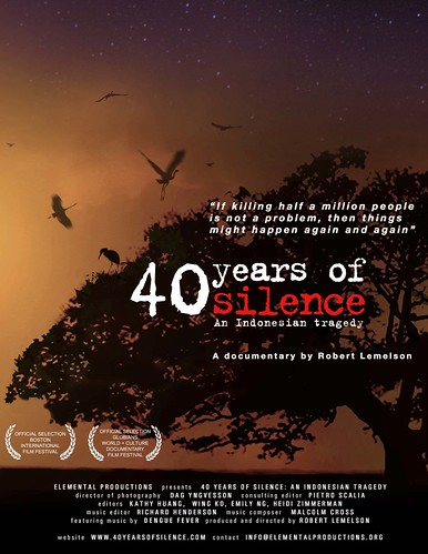 40 Years of Silence: An Indonesian Tragedy (USA 2008) Poster