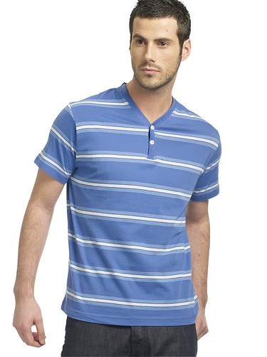 Peter Werth sale - blue striped polo-shirt