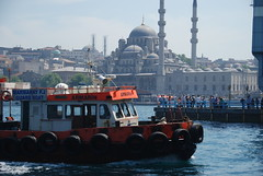 Istanbul (Let Ideas Compete) Tags: bridge people turkey boat dock barco barcos spires minaret istanbul mosque tires bumper dome minarets viewfromabridge takenonabridge galeta takenfromabridge viewonabridge