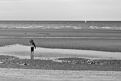Girl on the Beach, Dunkerque, France