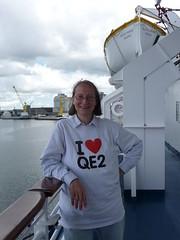 I Heart QE2 (prondis_in_kenya) Tags: cruise dublin port ship tshirt deck lifeboat irishsea fredolsen blackprince irishjig iloveqe2
