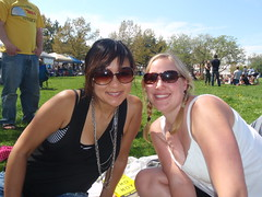 sophie and I at the Shad Festival in Fishtown (yobosayo) Tags: philadelphia sophie christine fishtown shadfestival