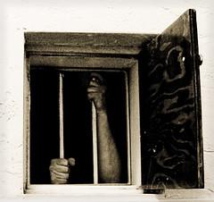 At Your Door (Geoff Ridenour) Tags: door portrait selfportrait self dark freedom captured down denver caged april d200 held locked 2010 alicedoor geoffridenour