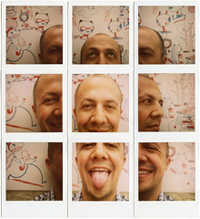 Don Leonardo Espinosa (RubioBuitrago) Tags: portrait collage polaroid sx70 colombia bogota retrato illustrator polaroid600 ilustrador juanfeliperubio sicoactiva leocomix leonardoespinosa