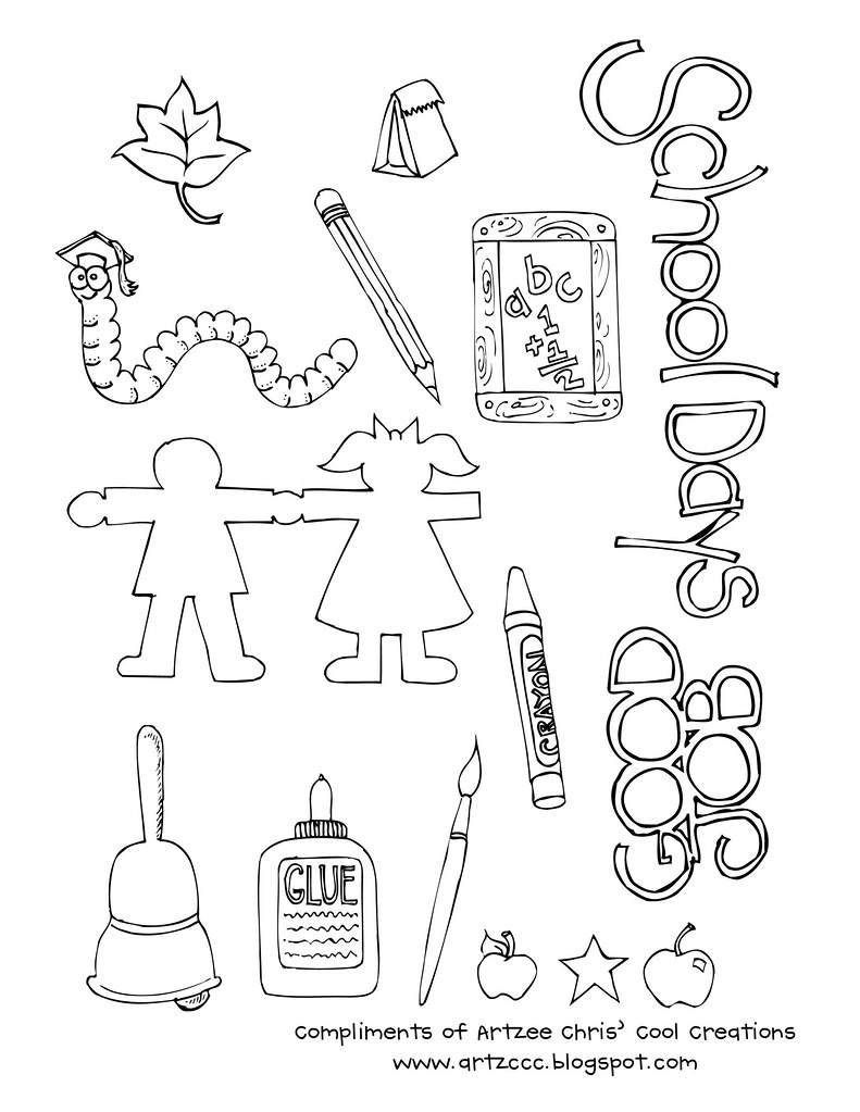 ArtzeeCCC: Teacher School Clipart for You to Print Out, Color and ...