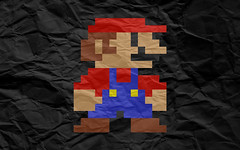 Crumpled Paper Mario Wallpaper