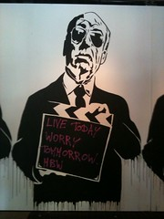 Hitchcock at Mr. Brainwash