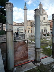 Column of Trajan in the distance