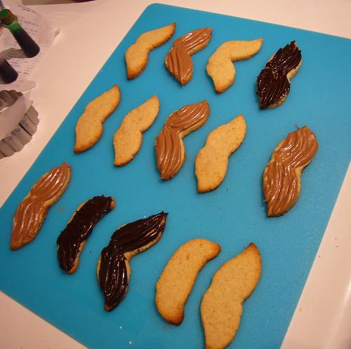 Moustache Cookies