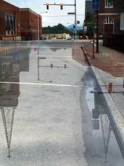 025/366 (daveelmore) Tags: street copyright reflection puddle doubleexposure intersection greenlight redlight allrightsreserved ep2 salemva sooc incameradoubleexposure legacylens omzuiko28mm128 omm43adapter daveelmore